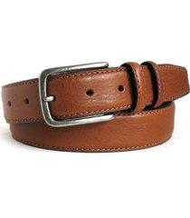 men's boconi clapton leather belt, size 40 - cognac