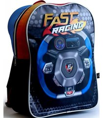 mochila azul back up fast racing