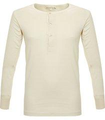 merz b. schwanen button facing nature henley t-shirt 206