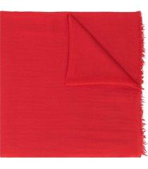 faliero sarti marietto cashmere scarf - red
