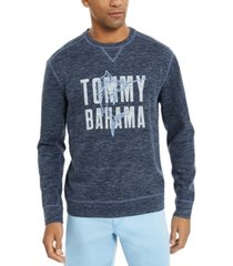 tommy bahama men's maritime marlin flip classic-fit reversible heathered logo sweatshirt