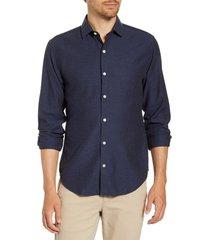 men's bonobos unbutton down slim fit sport shirt, size xx-large - blue