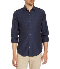 men's big & tall bonobos unbutton down slim fit sport shirt, size x-large - blue