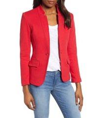 women's gibson notch collar cotton blend blazer, size large - red