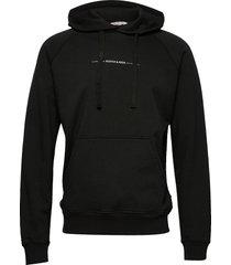 relaxed hoodie in organic cotton felpa hoodie trui zwart scotch & soda