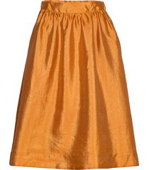 hall skirt 11244 knälång kjol orange samsøe samsøe