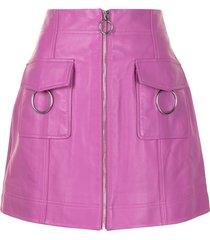 alice mccall bad angels leather skirt - purple