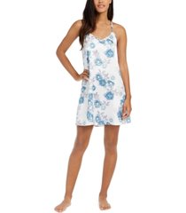 flora by flora nikrooz floral-print chemise nightgown