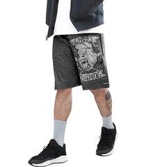 bermuda dri-fit chess clothing cinza mescla gorila