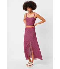 french connection verona crepe raspberry sorbet skirt