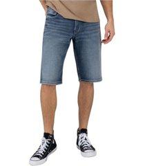 men's dark indigo wash loose fit shorts