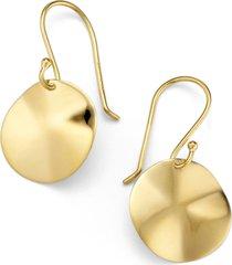 ippolita 'plain' mini wavy disc 18k gold earrings in yellow gold at nordstrom