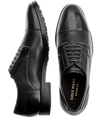 cole haan jay grand black cap toe oxfords