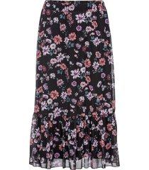 mönstrad mellanlång kjol