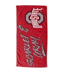 "northwest company ohio state buckeyes 30x60 ""buzzword"" beach towel"