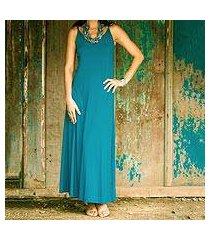 jersey maxi dress, 'cool ocean blue' (indonesia)