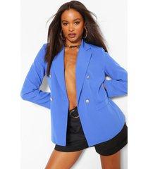 button detail blazer, blue