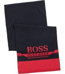 boss men's scarf & beanie gift set