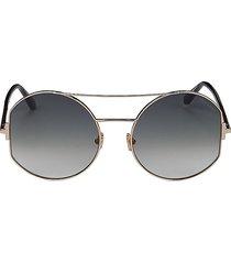 tom ford women's 60mm aviator sunglasses - gold