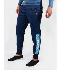 pantalon tipo jogger palmeira - azul oscuro celeste saeta
