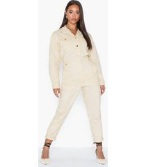 river island monik milk boilersuit jumpsuits