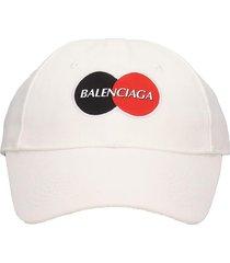 balenciaga uniform hats in white cotton