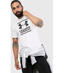 camiseta blanco-negro under armour gl foundation