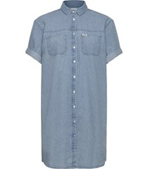 denim shirt dress korte jurk blauw wrangler