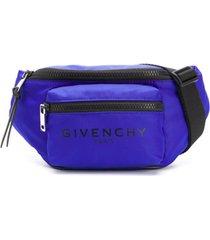 givenchy pochete com duplo bolso - azul