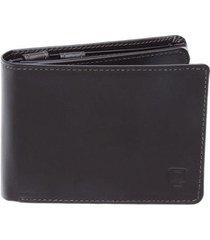 carteira em couro legítimo completa - porta cheque. plástico documentos e porta moeda