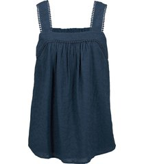 top in cotone (blu) - bpc bonprix collection