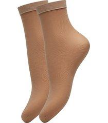 ladies den anklesock, pleasure socks 20, 2-pack lingerie socks regular socks beige vogue