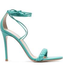 gianvito rossi braided stiletto sandals - blue