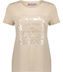 geisha 12027-46 010 t-shirt everything is possible vintage off-white