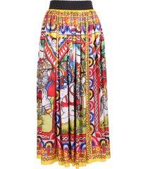 dolce & gabbana carretto silk skirt