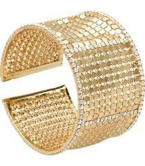 bracciale bangle con strass in metallo dorato per donna