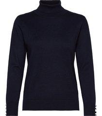 pullover-knit light turtleneck polotröja blå brandtex