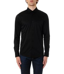 z zegna black cotton shirt