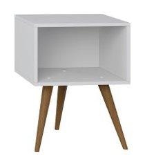 mesa de cabeceira nicho retrô be mobiliário com pés palito