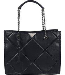 emporio armani diamond patterned shopper bag