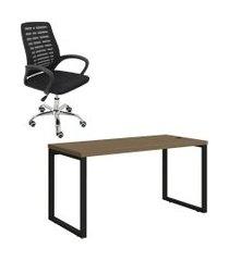 mesa de escritório kappesberg 1.50m com cadeira trevalla