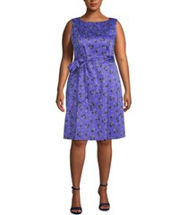 anne klein plus size tussy mussy printed dress