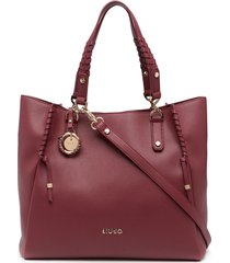 liu jo braid-detail tote bag - pink