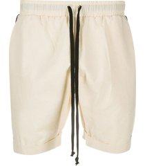 alchemy contrast-trim drawstring shorts - neutrals