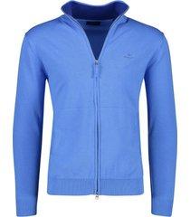 blauw vest gant