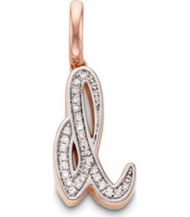 rose gold alphabet d diamond pendant charm diamond