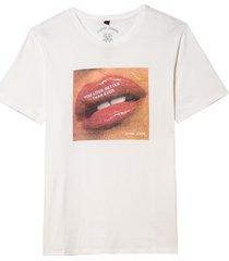camiseta john john mouth masculina (off white, gg)