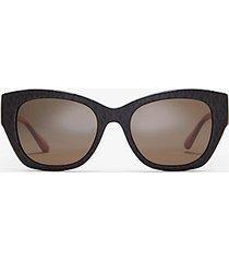 mk occhiali da sole palermo - marrone (marrone) - michael kors