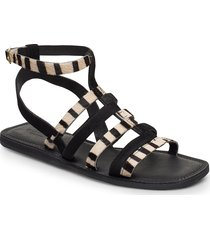 stb-tao gladiator shoes summer shoes flat sandals svart shoe the bear