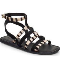 stb-tao gladiator shoes summer shoes flat sandals svart shoe the bear